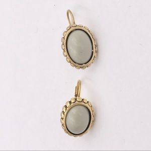 Vintage Victorian Style Grey Cabochon Earrings